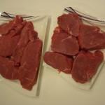 Steakhüfte schneiden