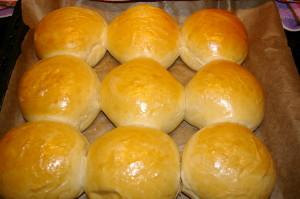 Burger Buns fertig gebac