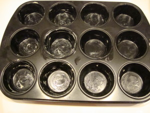 Muffin Blech eingefettet