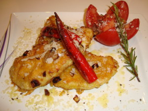 Parmesan-Schnitzel angerichtet (1)