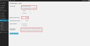 Wordpress Dahboard Einstellungen Lesen