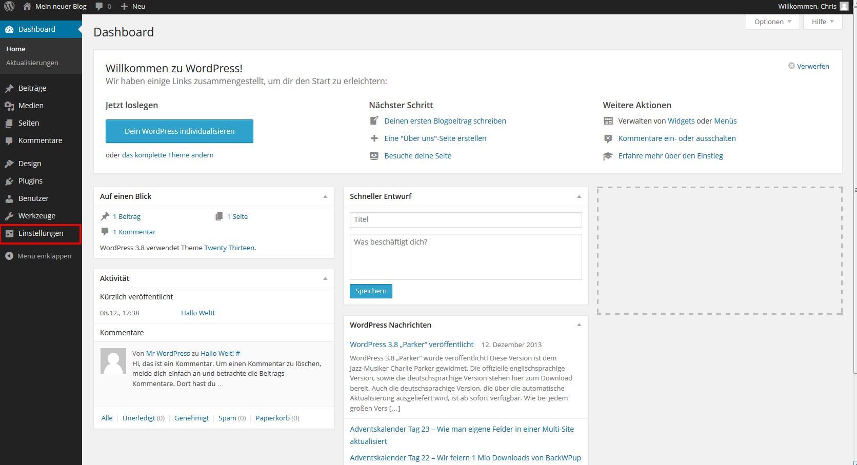 WordPress Einrichtung - grundlegende Einstellungen vornehmen - I ...