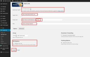 Wordpress PrettyLink Link erstellen