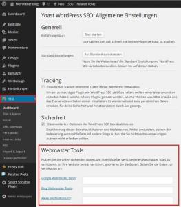 Wordpress Seo Allgemeine Einstellungen