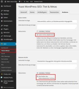 Wordpress Seo Titles und Metas