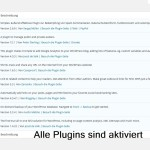 Wordpress alle Plugins aktiviert