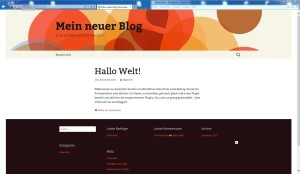 wordpress fertig installiert