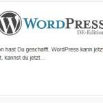 Wordpress installieren und erste Einblicke ins Dashboard