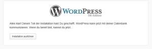 wordpress installation durchfuehren