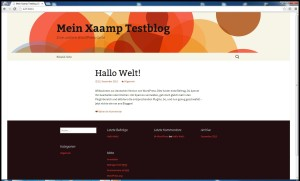 xaamp wordpress fertig installiert