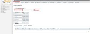 xaamp wordpress installieren datenbank erstellen phpmyadmin 1
