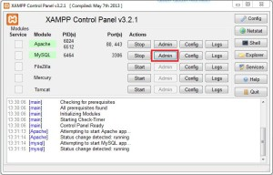 xaamp wordpress installieren datenbank erstellen phpmyadmin
