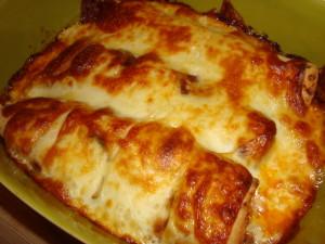 Tortillas ueberbacken mit Kaese