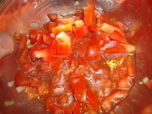 Tomaten für Bruschetta