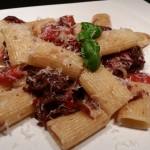 Rigatoni peperonata – Pasta mit Paprika