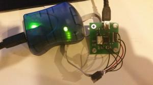 ISP mit Mikrocontroller Board verbunden