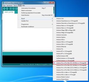 arduino projekt bootloader installieren